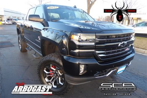 Pre-Owned 2017 Chevrolet Silverado 1500 Black Widow Lifted Truck