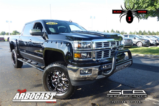 Pre Owned 2017 Chevrolet Silverado 1500 Black Widow Lifted Truck