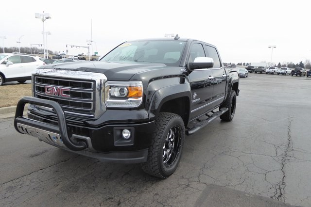 Pre-Owned 2015 GMC Sierra 1500 SLT Black Widow Lifted Truck
