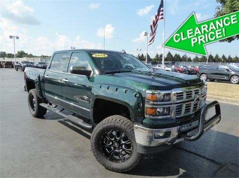 Pre-Owned 2015 Chevrolet Silverado 1500 LTZ Black Widow Lifted Truck