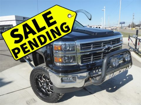 Pre-Owned 2014 Chevrolet Silverado 1500 LTZ Black Widow Lifted Truck